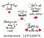 appy valentines day typography... | Shutterstock .eps vector #1257130474
