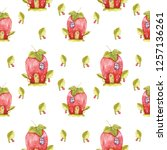 seamless pattern of watercolor... | Shutterstock . vector #1257136261