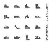 shoes vector icon set | Shutterstock .eps vector #1257136894