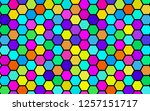 honeycomb many color ... | Shutterstock . vector #1257151717