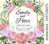 vector template for wedding... | Shutterstock .eps vector #1257156571