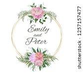 vector template for wedding... | Shutterstock .eps vector #1257157477