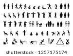 stick figure man  pictogram set ... | Shutterstock .eps vector #1257175174