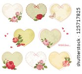 Set Of Holiday Hearts With...
