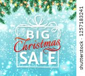 christmas sale banner. vector... | Shutterstock .eps vector #1257183241