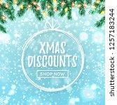 christmas sale web banner.... | Shutterstock .eps vector #1257183244