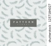 seamless pattern branches on...   Shutterstock .eps vector #1257184027