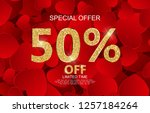 valentines day sale  discont... | Shutterstock .eps vector #1257184264