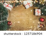 merry christmas and happy new... | Shutterstock . vector #1257186904