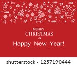 2019 hello winter beautiful... | Shutterstock .eps vector #1257190444