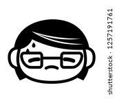 vector cartoon cute emoji...   Shutterstock .eps vector #1257191761