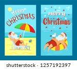 merry christmas  santa claus on ...   Shutterstock .eps vector #1257192397