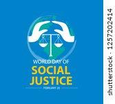 world social justice day... | Shutterstock .eps vector #1257202414