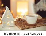 christmas decor in the house | Shutterstock . vector #1257203011
