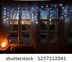 decorative himalayan salt lamp... | Shutterstock . vector #1257212041