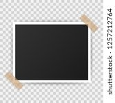 photo frame mockup design.... | Shutterstock .eps vector #1257212764