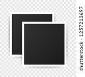 photo frame mockup design.... | Shutterstock .eps vector #1257213697