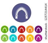 stone arch icons color set... | Shutterstock .eps vector #1257214414
