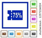 75 percent discount coupon flat ... | Shutterstock .eps vector #1257226024