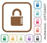 locked combination lock with... | Shutterstock .eps vector #1257226027