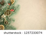festive greeting card. winter... | Shutterstock . vector #1257233074