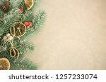 festive greeting card. winter... | Shutterstock . vector #1257233074