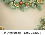 festive greeting card. winter ... | Shutterstock . vector #1257233077