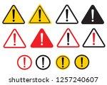 set warning sign. danger... | Shutterstock .eps vector #1257240607