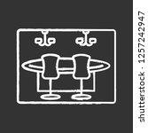 casino chalk icon. gambling... | Shutterstock .eps vector #1257242947