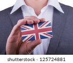 businessman showing card  matte ... | Shutterstock . vector #125724881