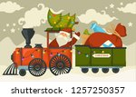 christmas holiday preparation...   Shutterstock .eps vector #1257250357