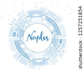 outline naples italy city... | Shutterstock .eps vector #1257251854
