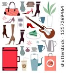 close up of accessories | Shutterstock .eps vector #1257269464