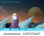 jupiter galilean moon or europa ... | Shutterstock .eps vector #1257272647