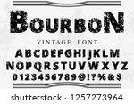 vector illustration font script ... | Shutterstock .eps vector #1257273964