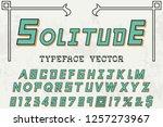 classic vintage decorative font ... | Shutterstock .eps vector #1257273967
