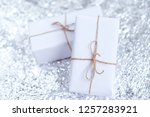 several small boxes with gifts... | Shutterstock . vector #1257283921