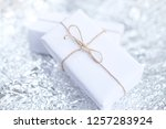 several small boxes with gifts... | Shutterstock . vector #1257283924