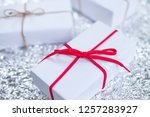 several small boxes with gifts... | Shutterstock . vector #1257283927