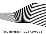 black and white stripes  lines... | Shutterstock .eps vector #1257299131