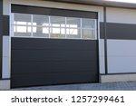 industrial sectional door | Shutterstock . vector #1257299461