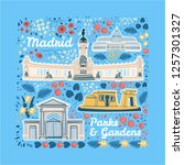 hand drawn colorful vector... | Shutterstock .eps vector #1257301327