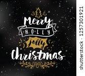 merry christmas. typography.... | Shutterstock .eps vector #1257301921