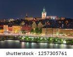 scenic aerial view of gamla... | Shutterstock . vector #1257305761