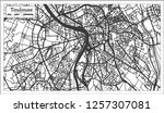 toulouse france city map in... | Shutterstock .eps vector #1257307081