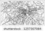 sofia bulgaria city map in... | Shutterstock .eps vector #1257307084