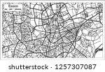 essen germany city map in retro ... | Shutterstock .eps vector #1257307087