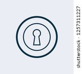 keyhole icon vector  filled... | Shutterstock .eps vector #1257311227