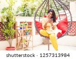 pretty indian young woman... | Shutterstock . vector #1257313984