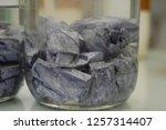 pieces of freshly cut potassium ... | Shutterstock . vector #1257314407